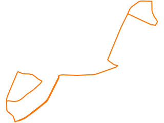 Map showing location of OR: Orange Line